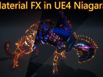 Material FX in UE4 Niagara