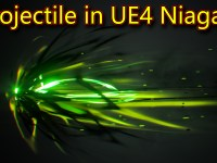 Projectile in UE4 Niagara | Subscribe for Next Tutorial
