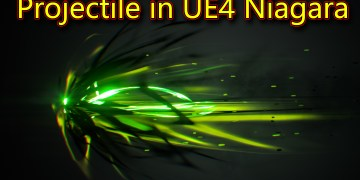 Projectile in UE4 Niagara   Subscribe for Next Tutorial