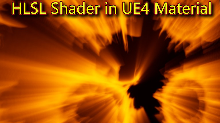Rays HLSL Shader in UE4 Material Custom Node
