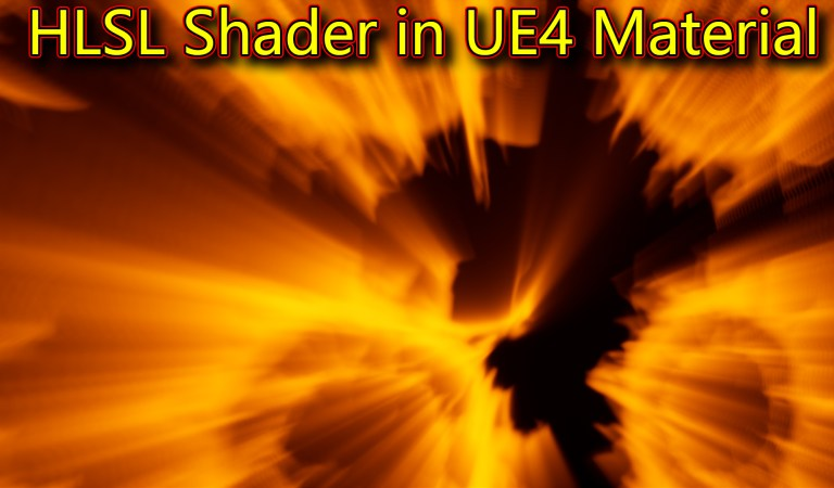 Rays HLSL Shader in UE4 Material Custom Node