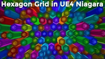 Hexagon Grid in UE4 Niagara