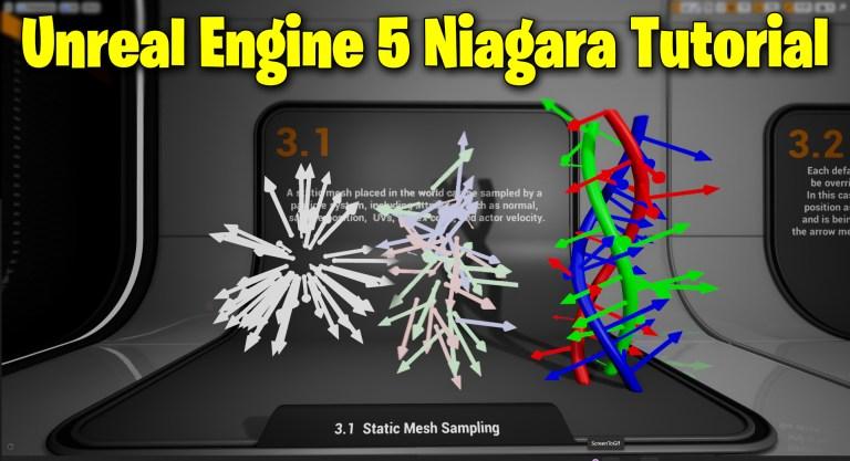 Static Mesh Sampling in UE5 Niagara Tutorial | Download Files