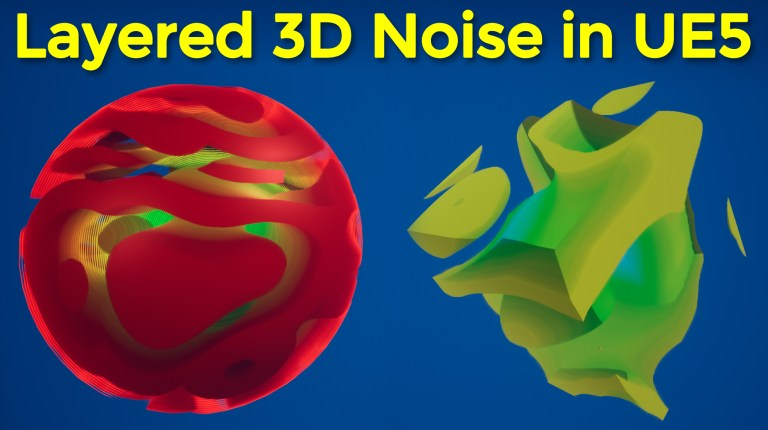 Layered 3D Noise in UE5 Niagara and Material Tutorial | Download Files