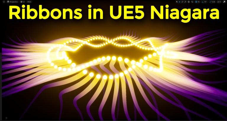 Ribbons in UE5 Niagara Tutorial   Download Files