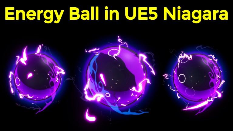Energy Ball in Unreal Engine 5 Niagara Tutorials | Download Files