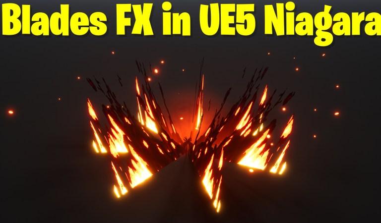 Blades FX in UE5 Niagara Tutorial   Download Files