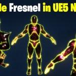 Particle Fresnel in UE5 Niagara Tutorial   Download Files