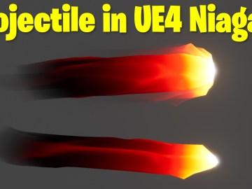 Projectile in UE4.27 Niagara Tutorial | Download Files