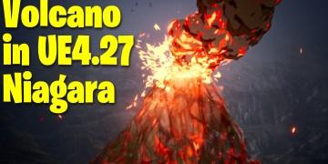 Volcano in UE4.27 Niagara Tutorial | Download Files