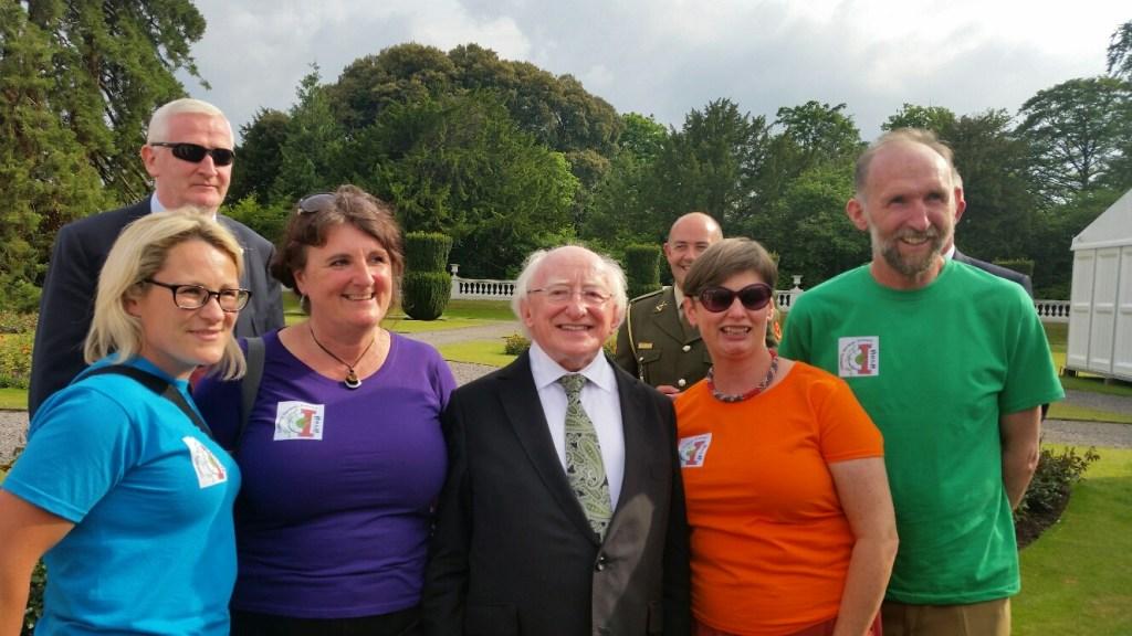 Community Garden Ireland Coordinators meet the President of Ireland