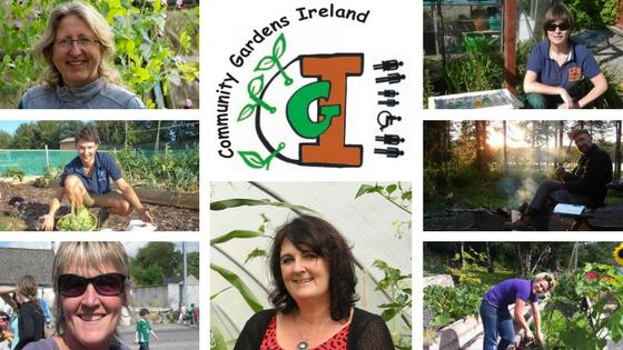 Community Gardens Ireland July 2017 team