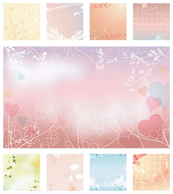 Wedding Background Template Set Free Download