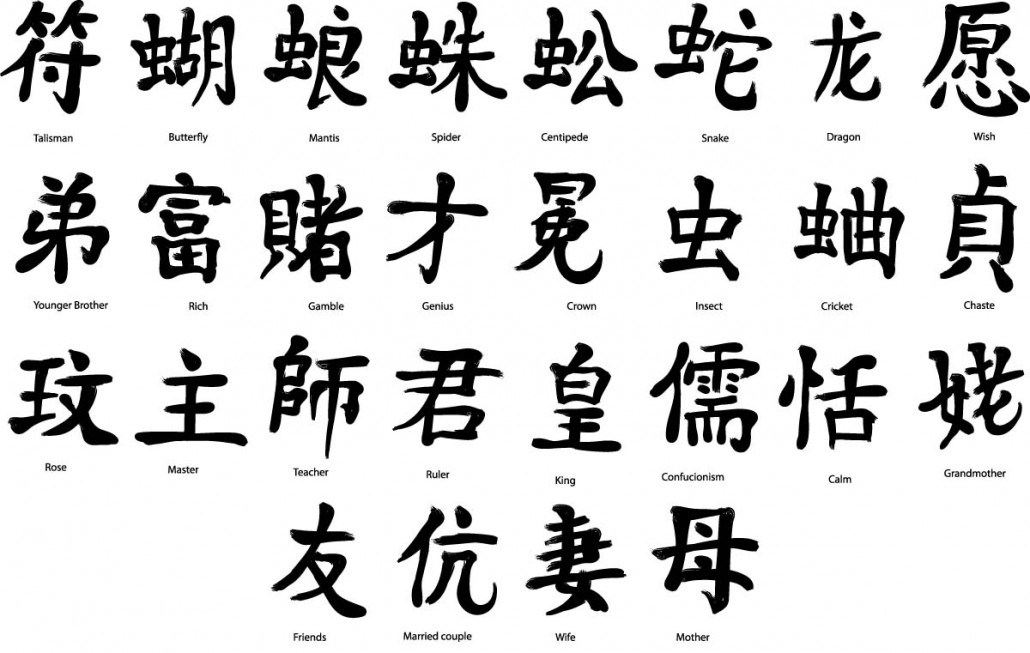 Japanese Kanji Elements Set Vector Free Download