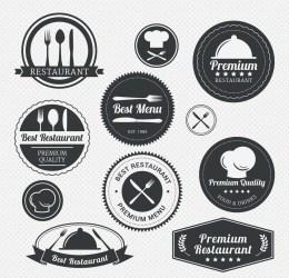 restaurant vector menu label vectors pack freepik premium cgispread icons restaurants labels resturant cuisine grill printables templates crafts paper