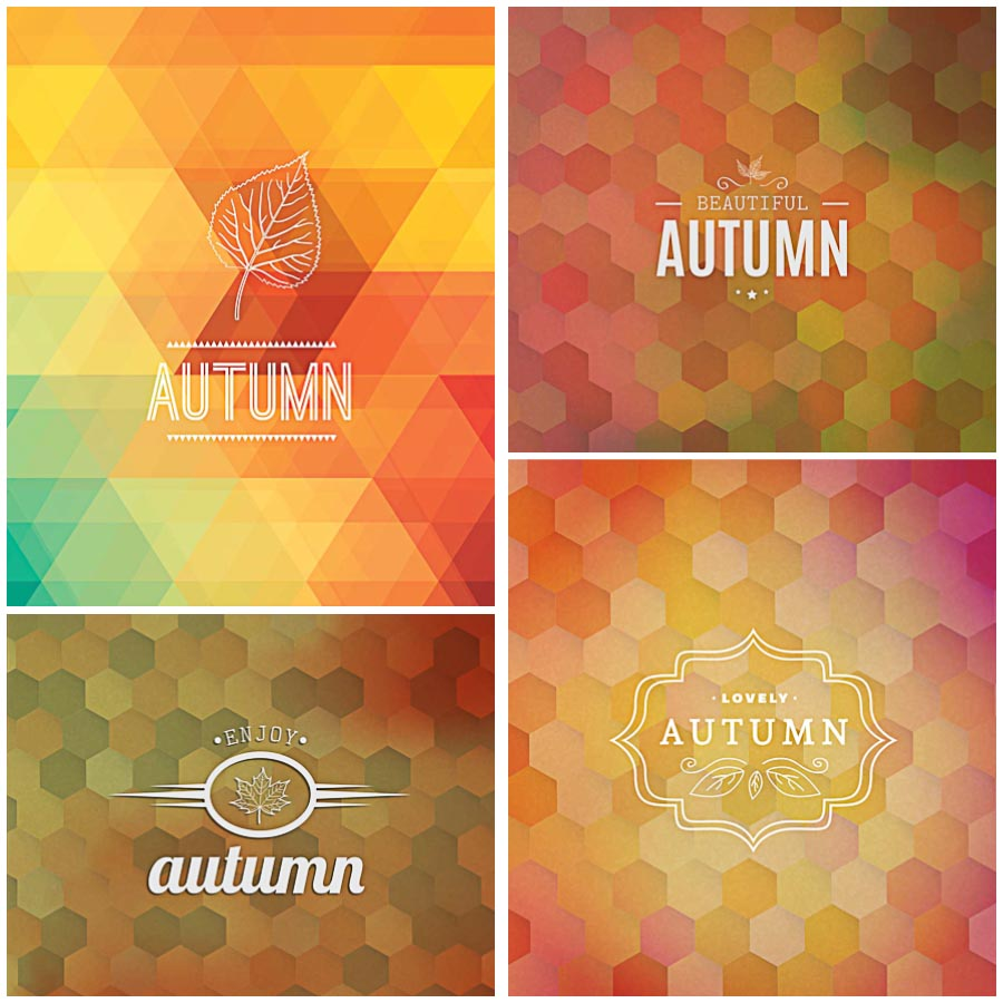 Autumn background modern vector  Free download