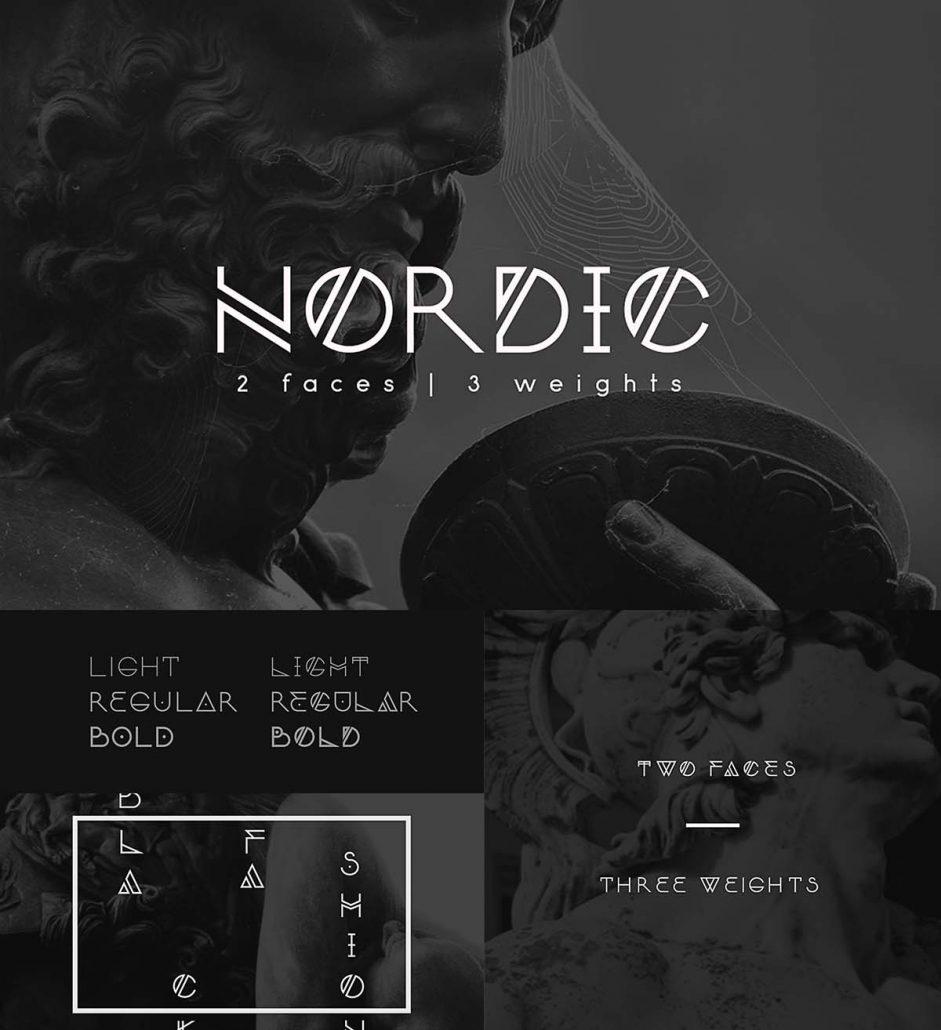 Nordic modern font  Free download