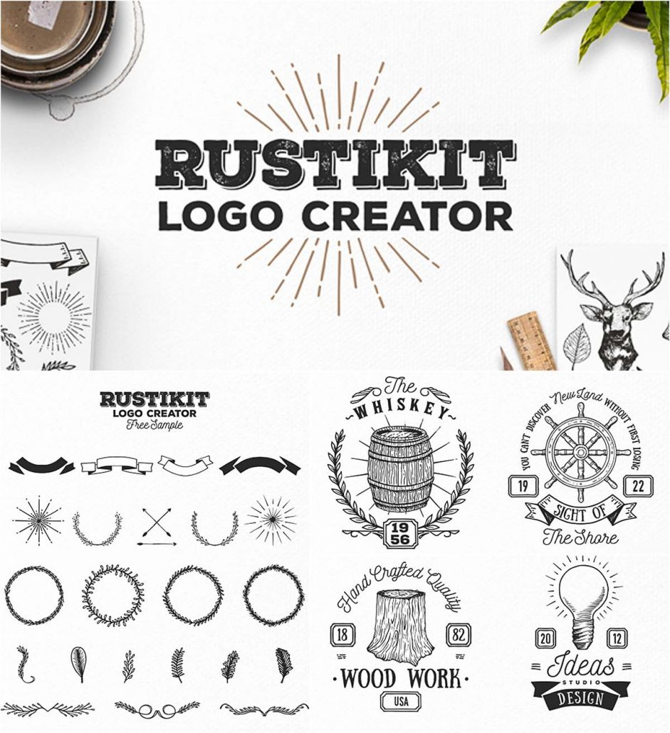 Rustikit Logo Creator Set Free Download