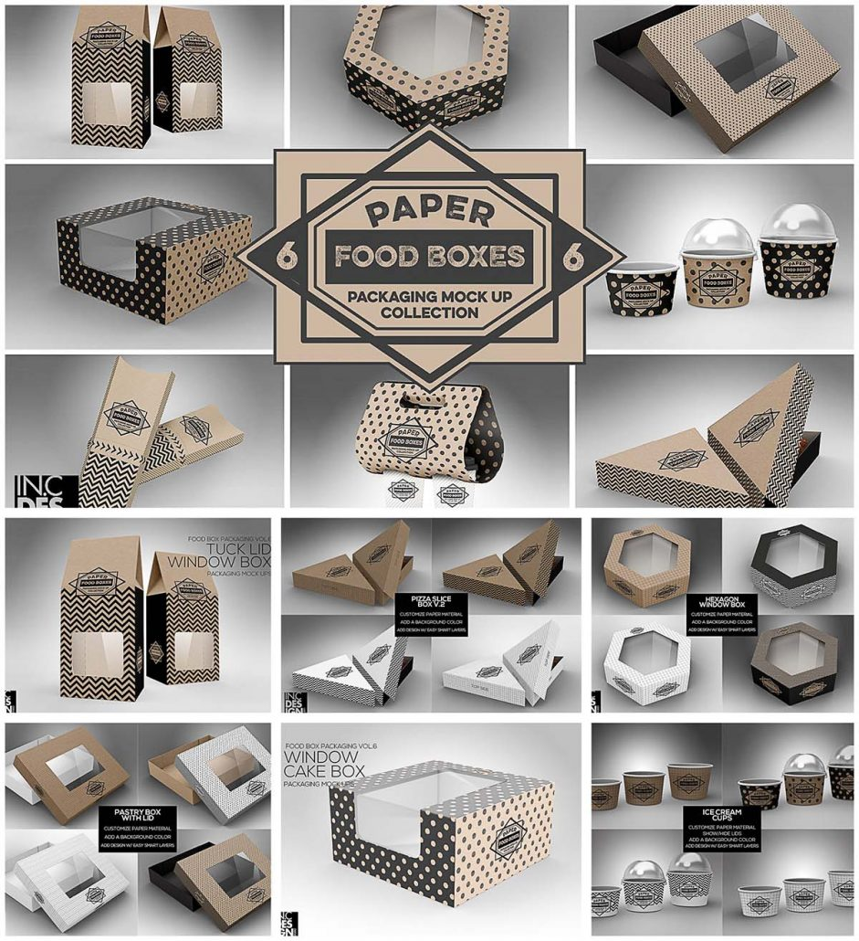 Download Food box packaging mockups | Free download