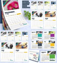 2018 Calendar design template wall and desk | Free download