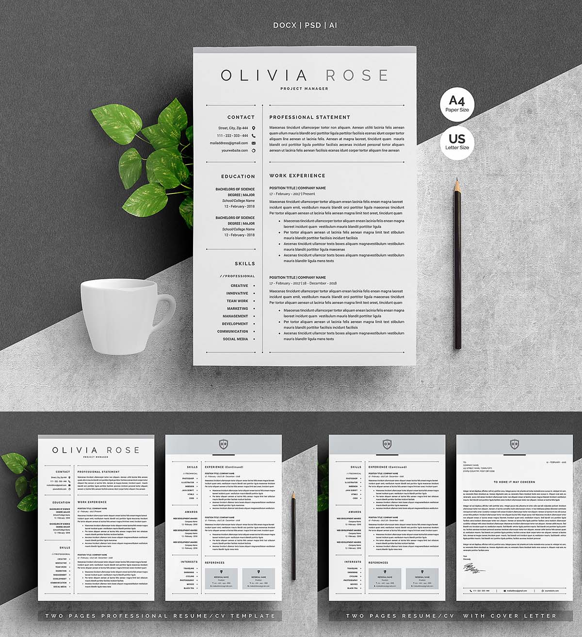 Microsoft Word Resume Templates 2018