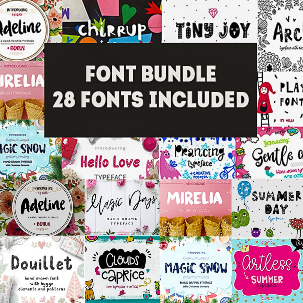 Download 28 Cool Fonts with Extras Collection   Free download