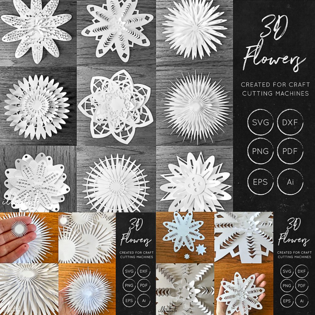 Download 3D Flower SVG Cut Files   Free download