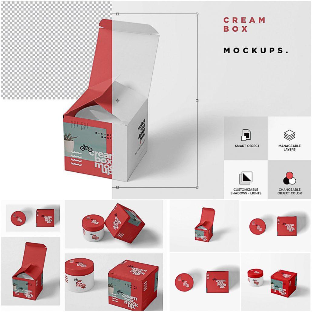 Download Cosmetic Jar Box Mockups | Free download