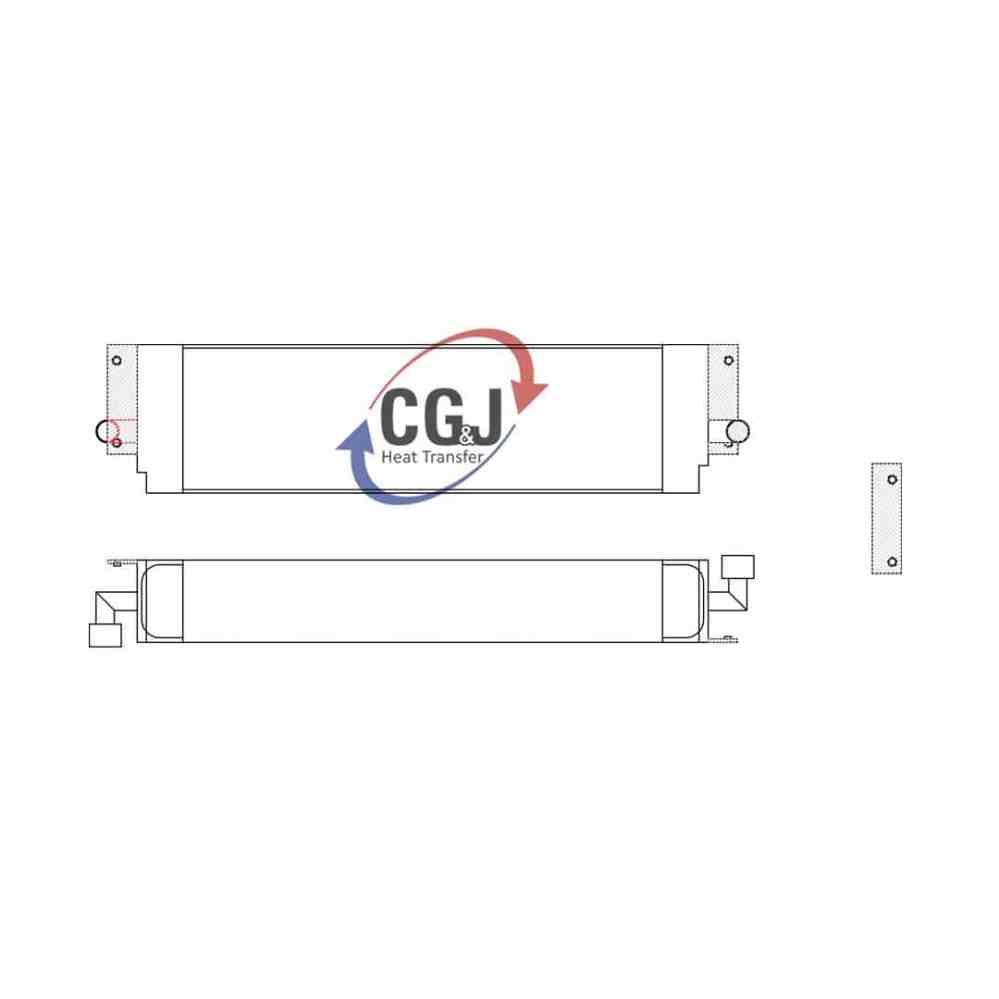medium resolution of bt 5156 aluminum case 1155e track loader oil cooler