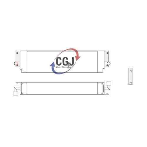 small resolution of bt 5156 aluminum case 1155e track loader oil cooler