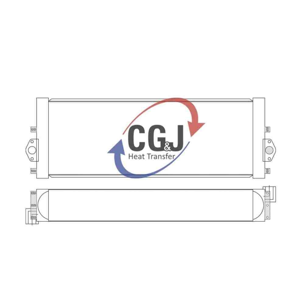 medium resolution of bt 5165 aluminum komatsu pc290 lc hydraulic excavator oil cooler