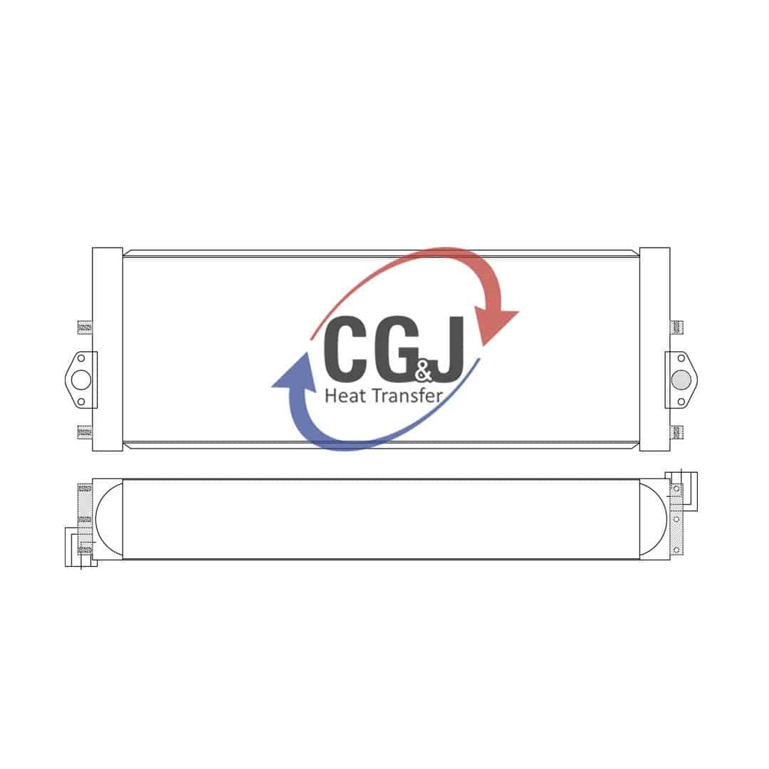 hight resolution of bt 5165 aluminum komatsu pc290 lc hydraulic excavator oil cooler