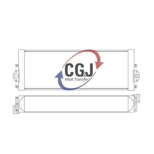 small resolution of bt 5165 aluminum komatsu pc290 lc hydraulic excavator oil cooler