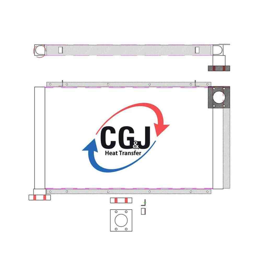 medium resolution of bt 5167 aluminum ingersoll rand air compressor oil cooler