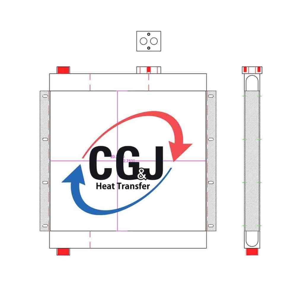medium resolution of bt 5196 aluminum palatek 50 hp air compressor oil cooler