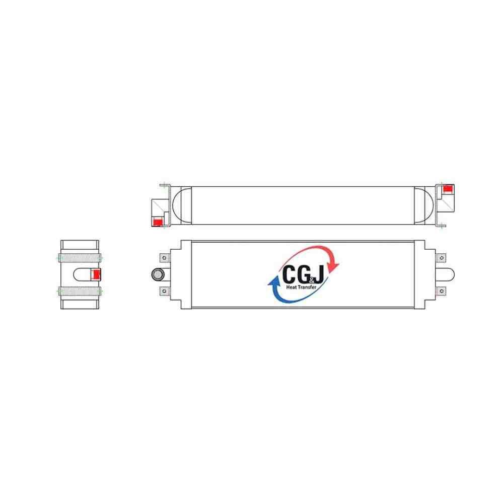 medium resolution of bt 5235 aluminum case 1150e dozer oil cooler
