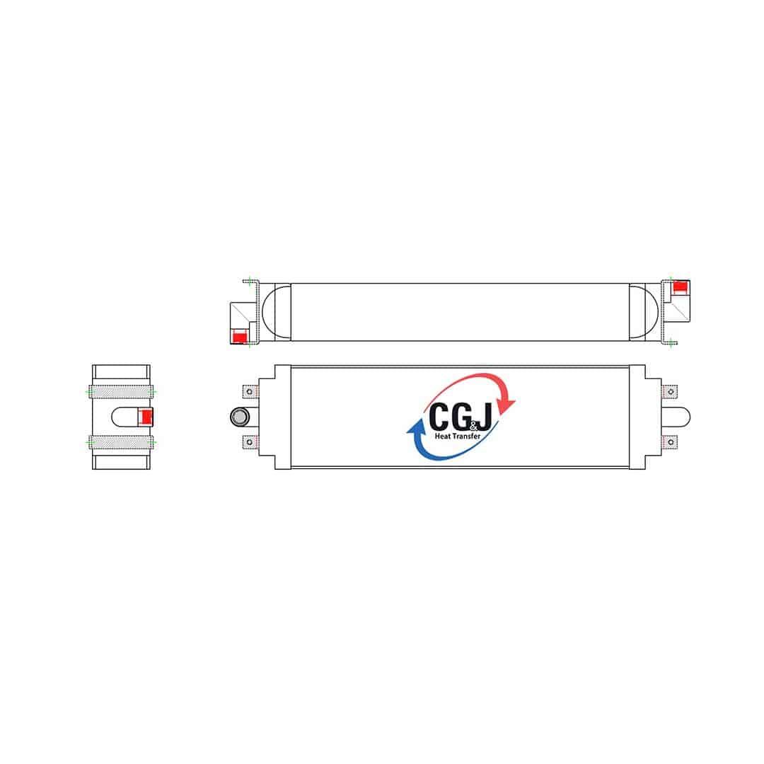 hight resolution of bt 5235 aluminum case 1150e dozer oil cooler