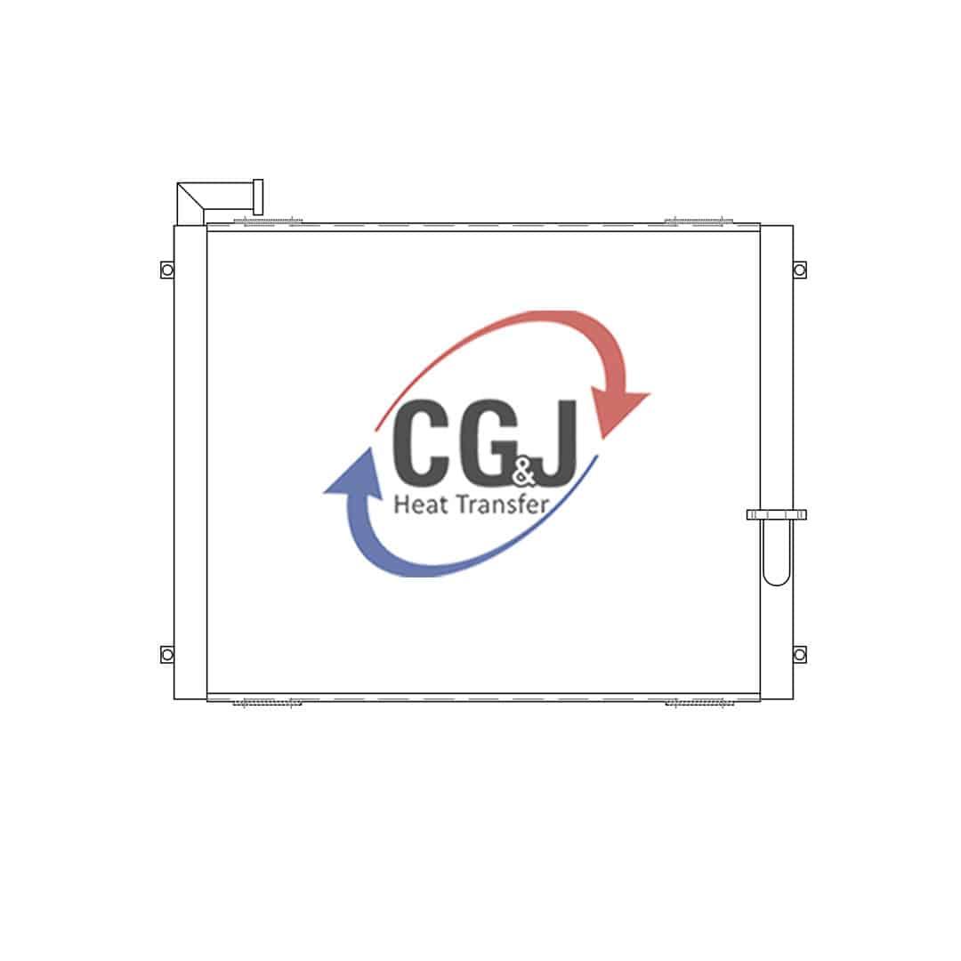 hight resolution of bt 5267 aluminum crane oil cooler