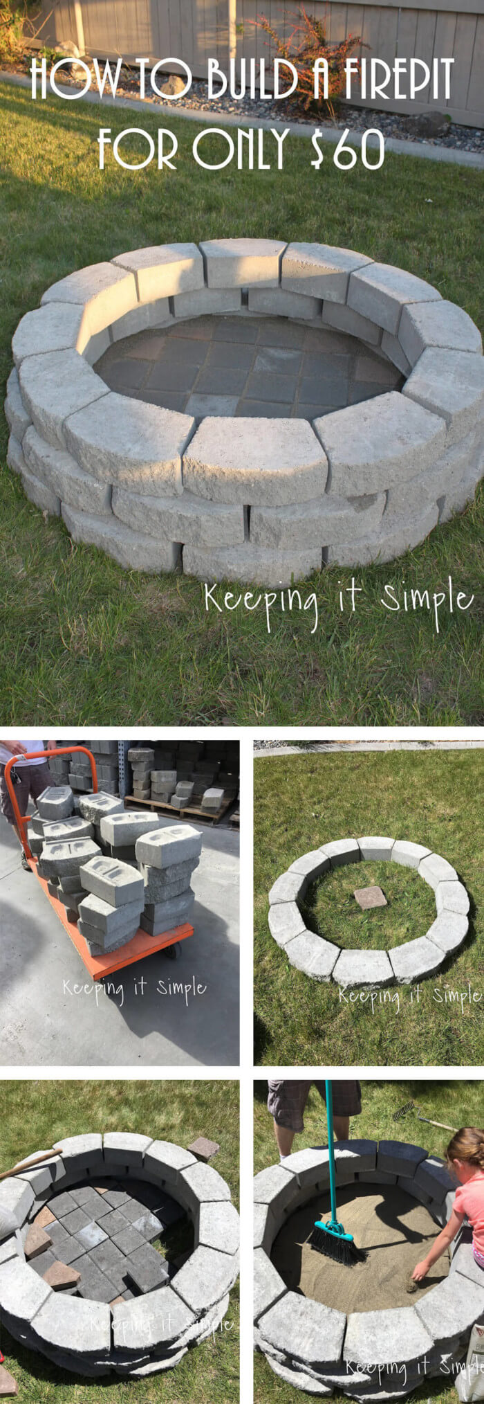 Incredible gravel fire pit area ideas to make s'mores with your family