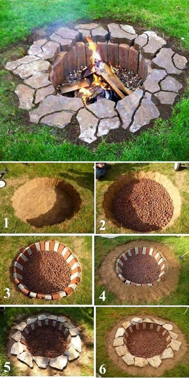 Easy fire pit ideas gas hot designs for your yard