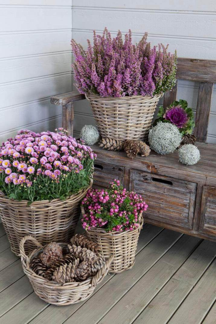 Quick and easy ideas for front door flower pots to liven up your home for a good first impression.