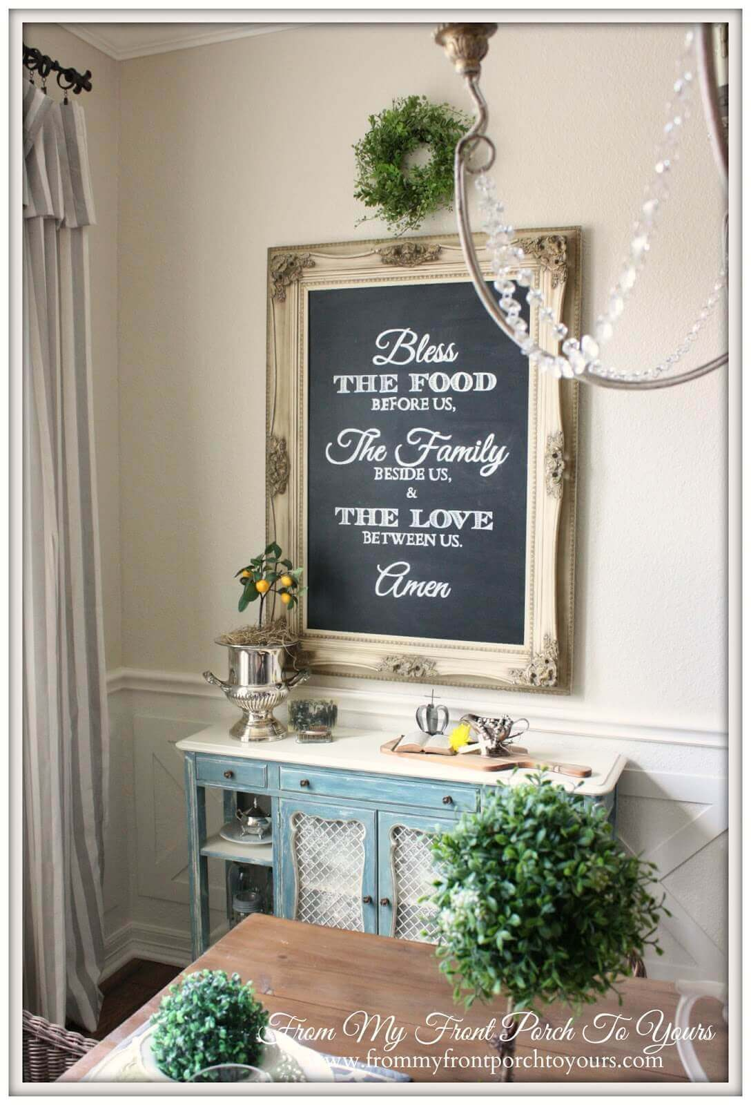The Best Country Dining Room Wall Decor Farmhouse Using Natural Elements  And A Mix Of Textures