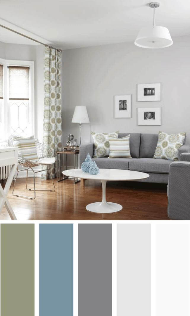 The most popular new living room color scheme ideas that will add personality to your room and look professionally designed. #livingroomcolorschemes #livingroomcolorschemeideas