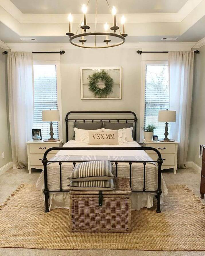 Best Beautiful farmhouse bedroom lighting .Each and every detail of this makeover is truly amazing and so full of farmhouse style!