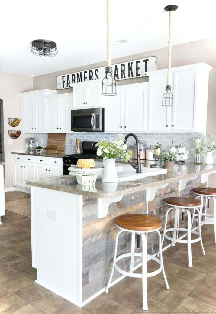 Farmhouse-Style Kitchen: Gorgeous modern farmhouse kitchen cabinets that will help transform your kitchen into the place you've been craving for so long