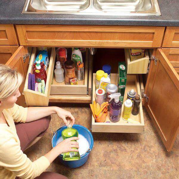 Hidden and Genius small home storage solutions who developed home organizing ideas to take advantage of every nook in the tiniest of spaces.