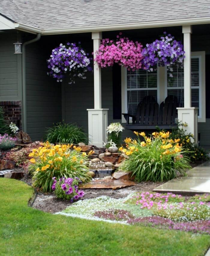 Cheap and Easy diy front yard landscaping ideas on a budget to beautify your garden on a budget - Inspirational Gardening Ideas
