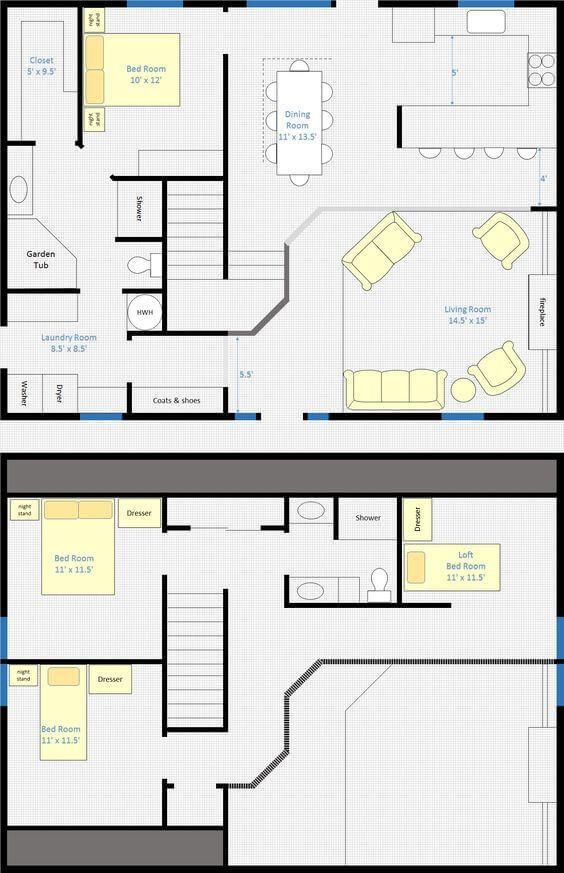 [HQ Plan] Best barndominium open floor plan with loft. #barndominium #barndominiumfloorplans #barndominium plans