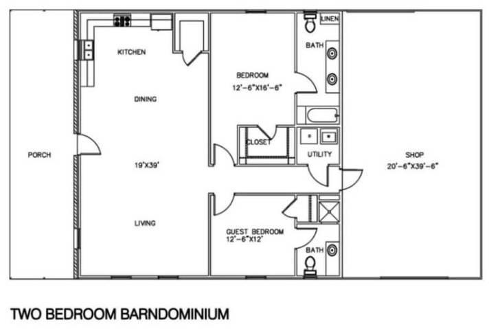 [HQ Plan] Best barndominium floor plans with shop. #barndominium #barndominiumfloorplans #barndominiumplans