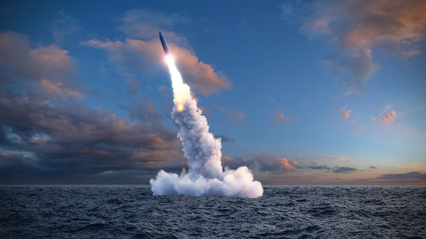 Submarine missile launch